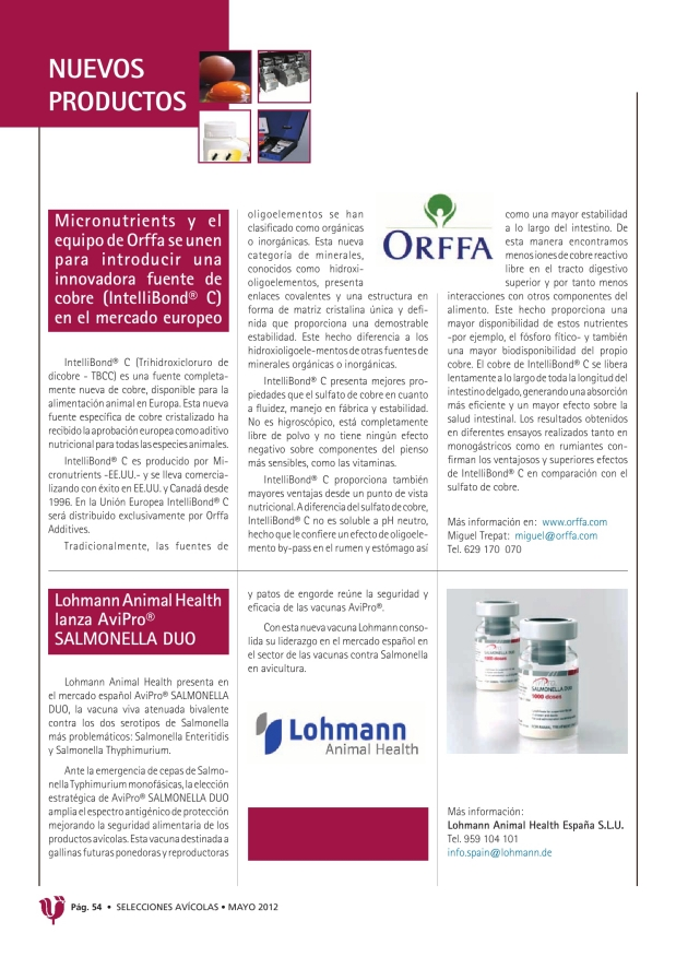 Lohmann Animal Health lanza AviPro® Salmonella Duo