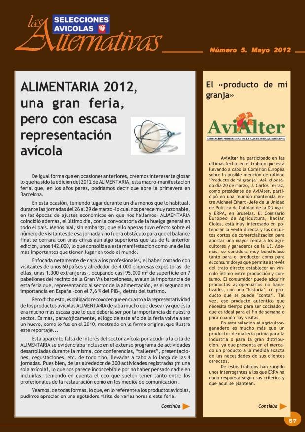 Alimentaria 2012, una gran feria, pero con escasa representación avícola