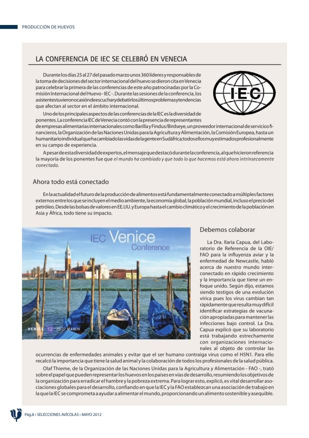 La Conferencia de IEC se celebró en Venecia