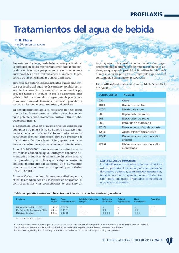 Tratamientos del agua de bebida