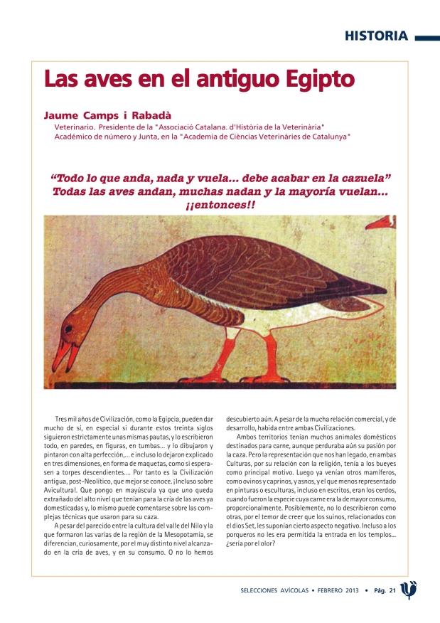 Las aves en el antiguo Egipto
