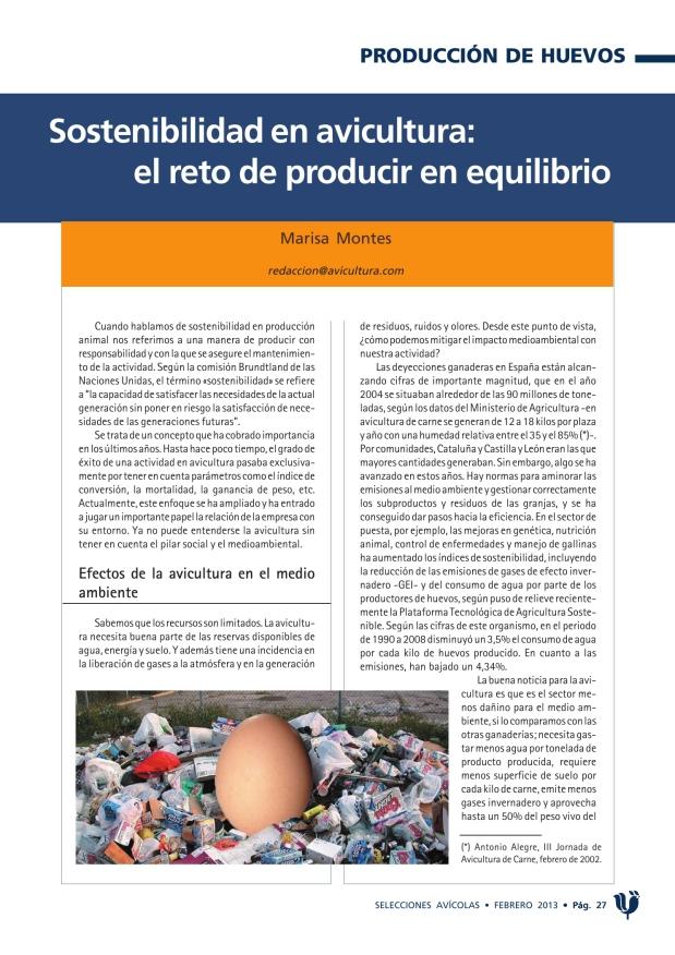 Sostenibilidad en avicultura: el reto de producir en equilibrio