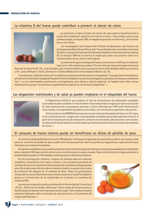 La vitamina D del huevo puede contribuir a prevenir el cáncer de colon