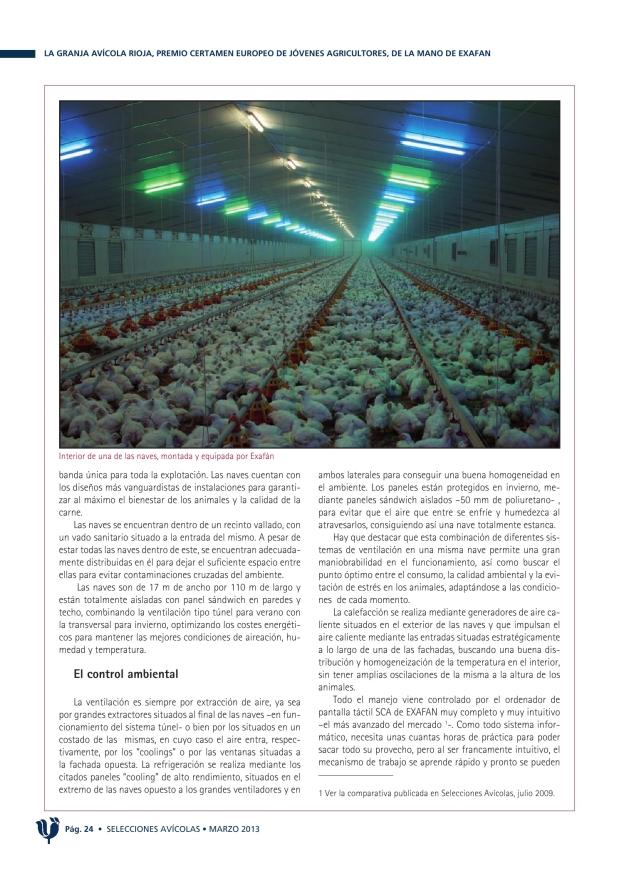 La granja Avícola Rioja, premio Certamen Europeo de Jóvenes Agricultores, de la mano de EXAFAN