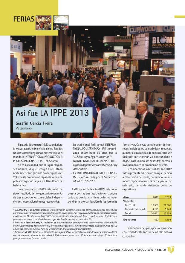 Así fue la IPPE 2013