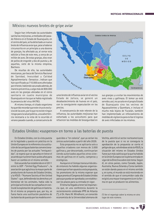México: nuevos brotes de gripe aviar