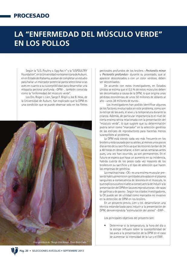 """PROCESADO - La """"enfermedad del músculo verde"""""""