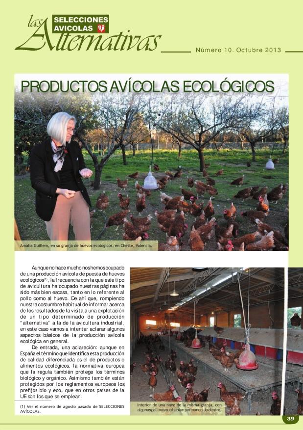 Productos avícolas ecológicos