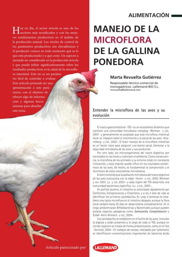 Manejo de la microflora de la gallina ponedora
