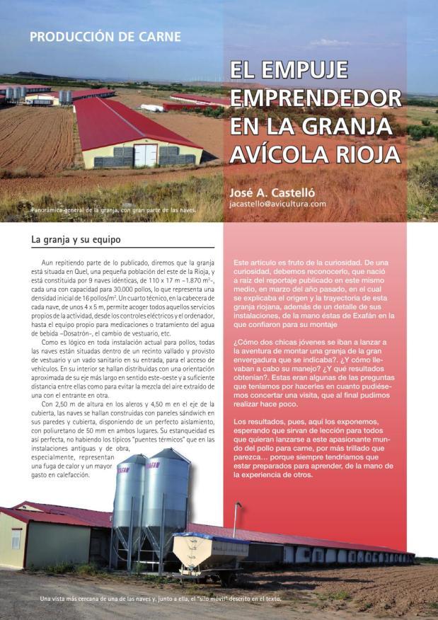 El empuje emprendedor en la Granja Avícola Rioja