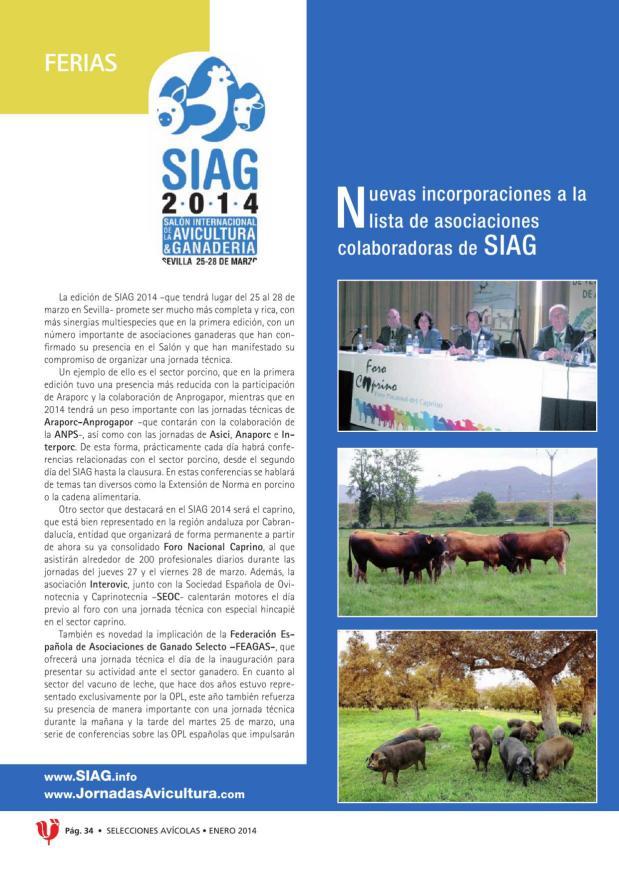 Nuevas incorporaciones a la lista de asociaciones colaboradoras de SIAG