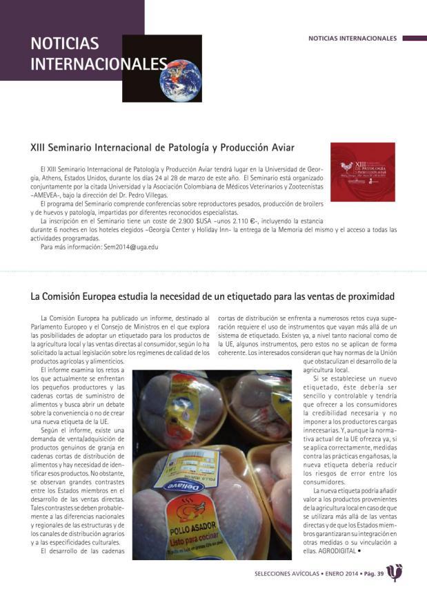 XIII Seminario Internacional el Patología y Producción Aviar