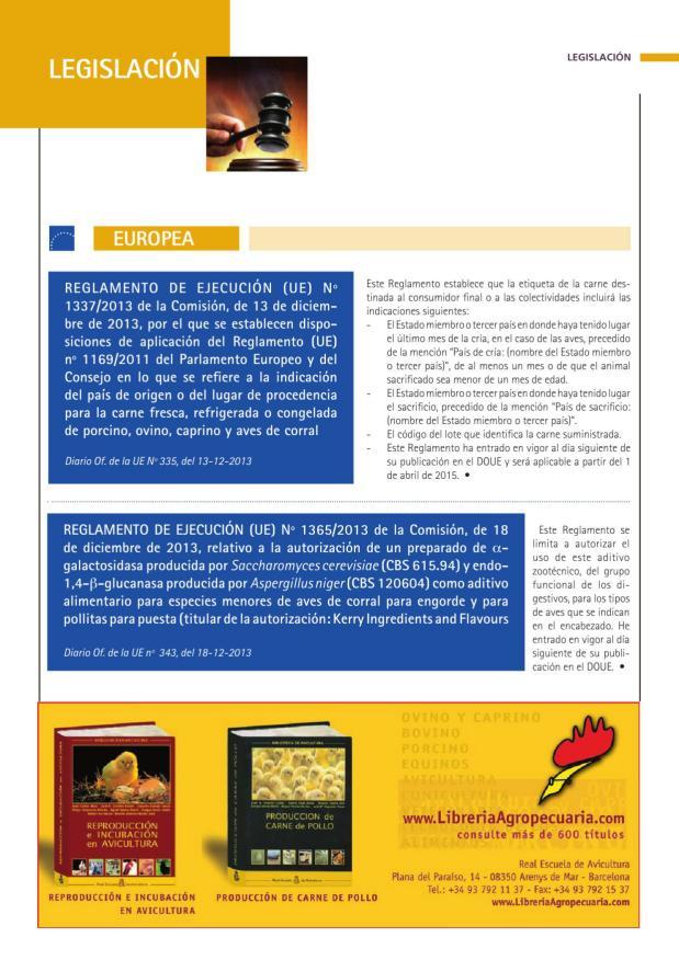 REGLAMENTO DE EJECUCIÓN (UE) Nº 1337/2013 de la Comisión