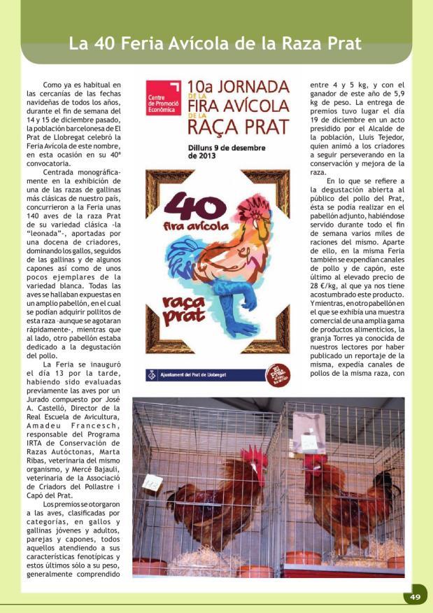 La 40 Feria Avícola de la Raza Prat