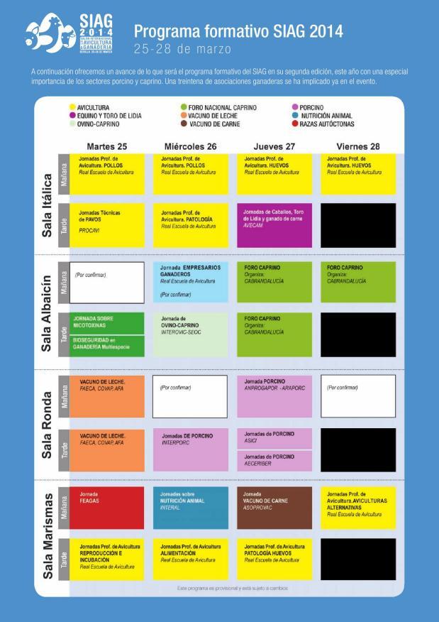 Programa formativo SIAG 2014