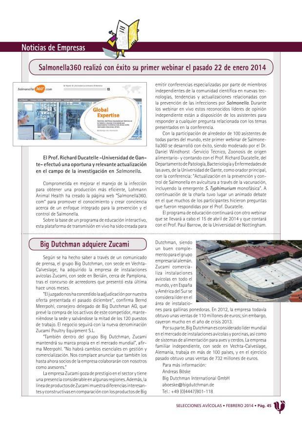 Salmonella360 realizó con éxito su primer webinar el pasado 22 de enero de 2014