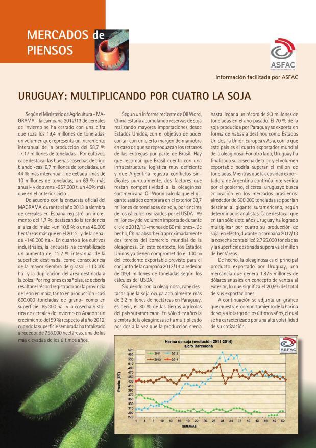 Uruguay: multiplicando por cuatro la soja