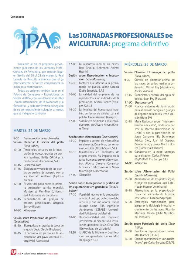 Jornada sobre procedimiento de sacrificio de emergencia en avicultura
