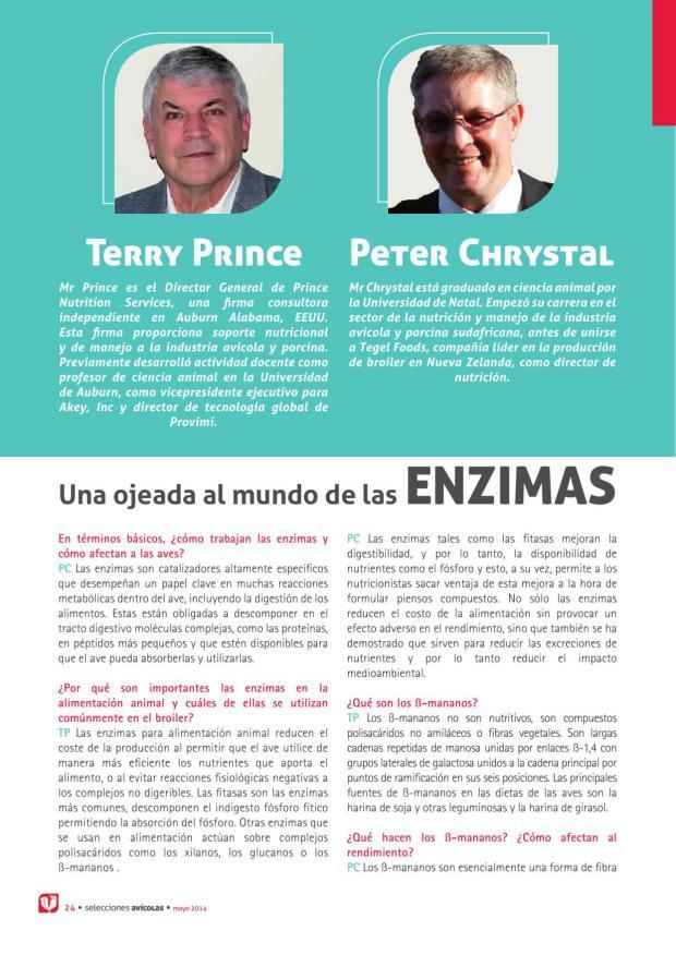 Terry Prince y Peter Chriystal. Una ojeada al mundo de las enzimas