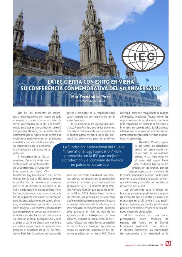 La IEC cierra con éxito en Viena su conferencia commemorativa del 50 Aniversario