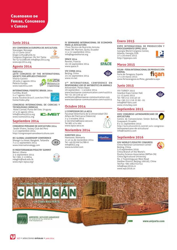 Calendario de Ferias, Congresos y Cursos