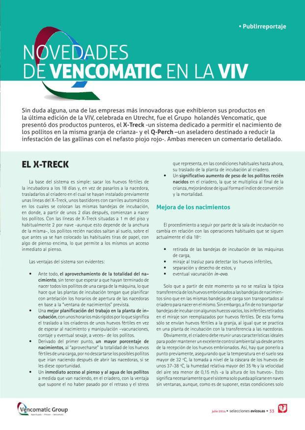 Novedades de Vencomatic en la VIV
