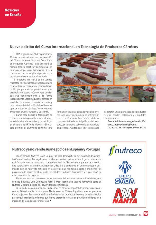 Nueva edición del Curso Internacional en Tecnología de Productos Cárnicos