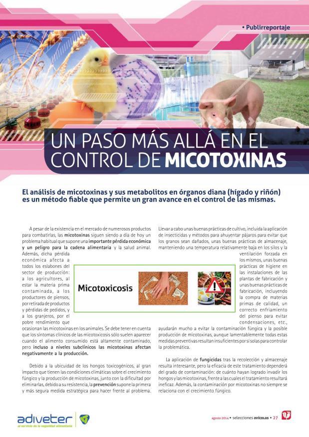 Un paso más allá en el control de micotoxinas