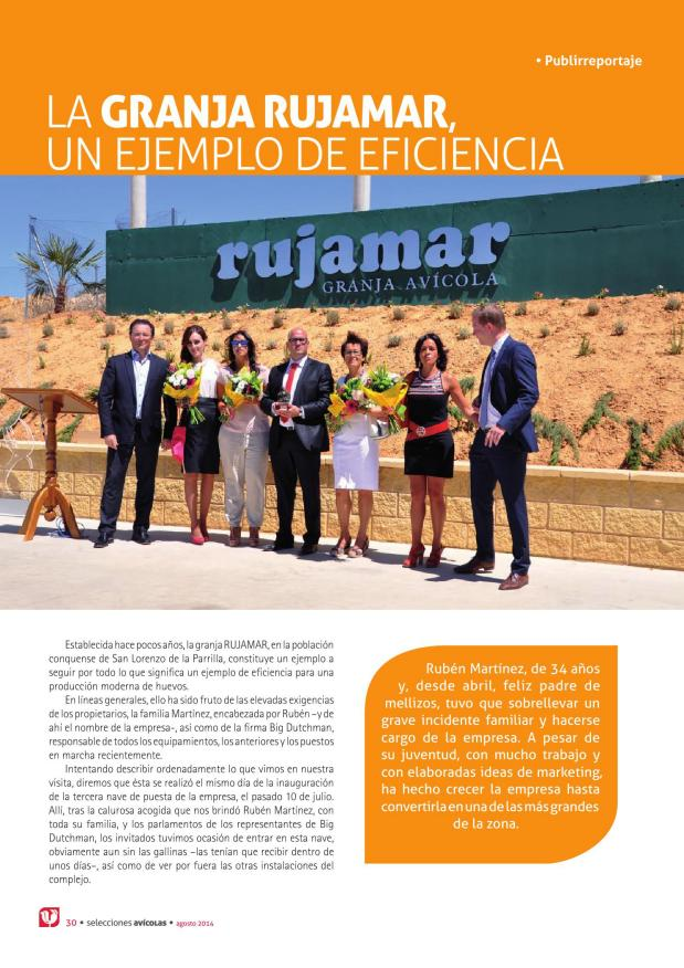 La Granja Rujamar, un ejemplo de eficiencia