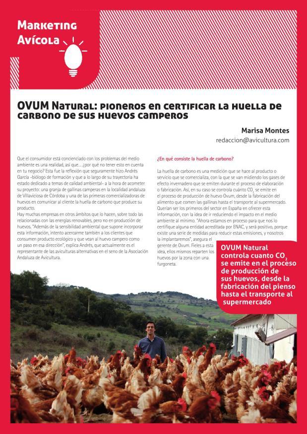 OVUM Natural: pioneros en certificar la huella de carbono de sus huevos camperos