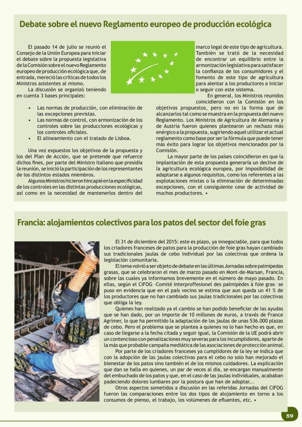 Debate sobre el nuevo Reglamento europeo de producción ecológica