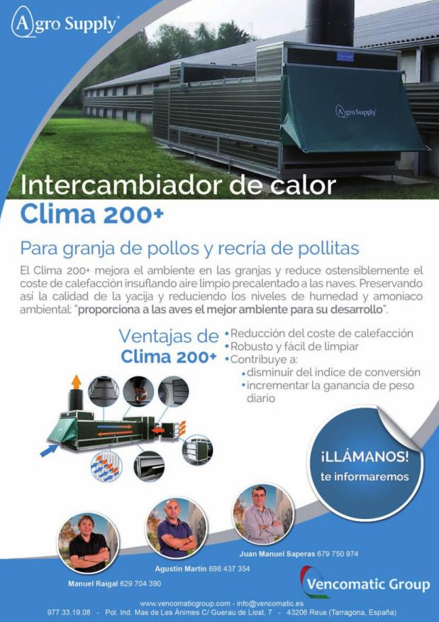 Agro Supply - Intercambiador de calor Clima 200+