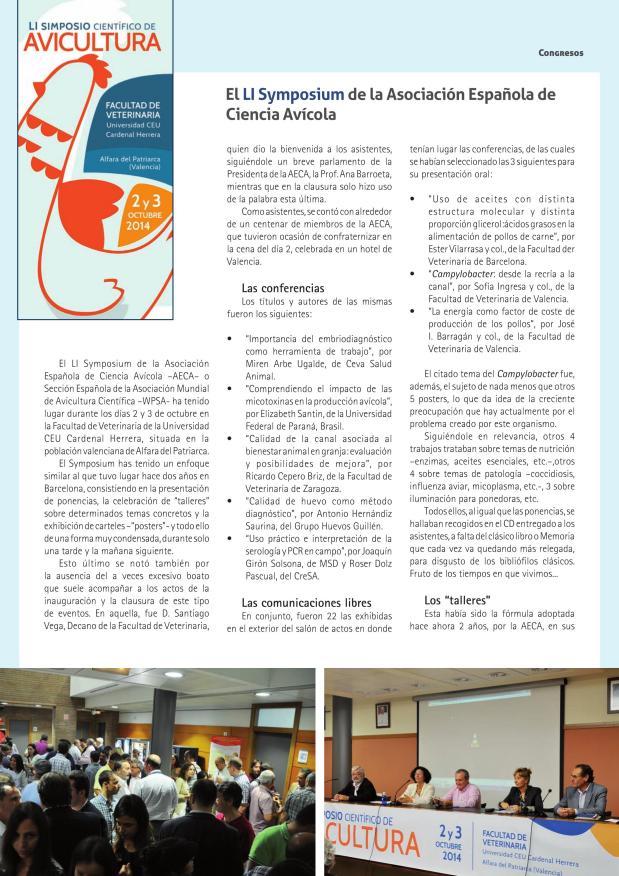 El LI Symposium de la Asociación Española de Ciencia Avícola