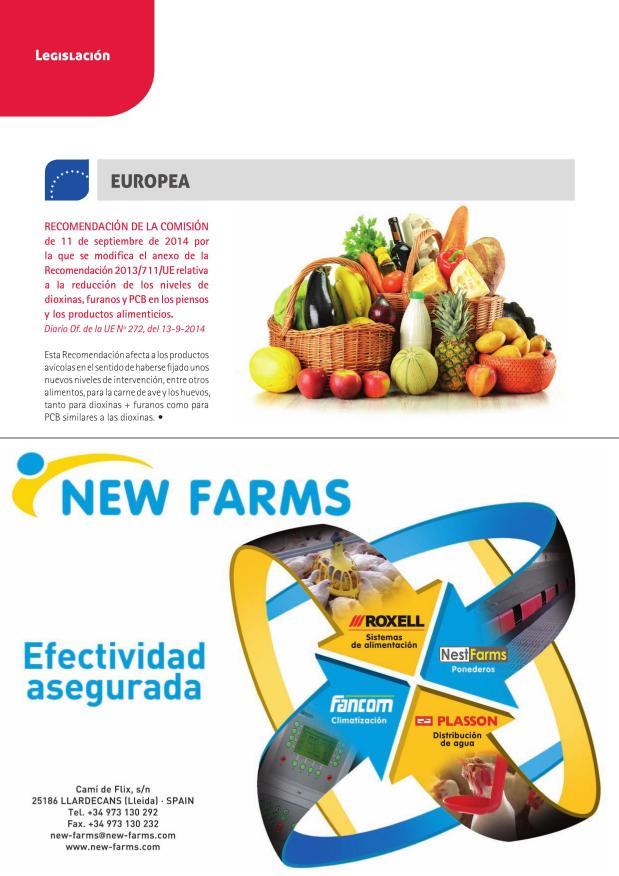Recomendación de la Comisión de 11 de septiembre de 2014 por la que se modifica el anexo de la Recomendación 2013/711/UE relativa a la reducción de los niveles de dioxinas, furanos y PCB en los piensos y los productos alimenticios