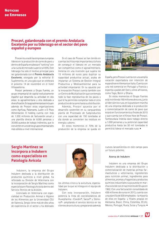 Procavi, galardonada con el premio Andalucía Excelente por su liderazgo en el sector del pavo español y europeo