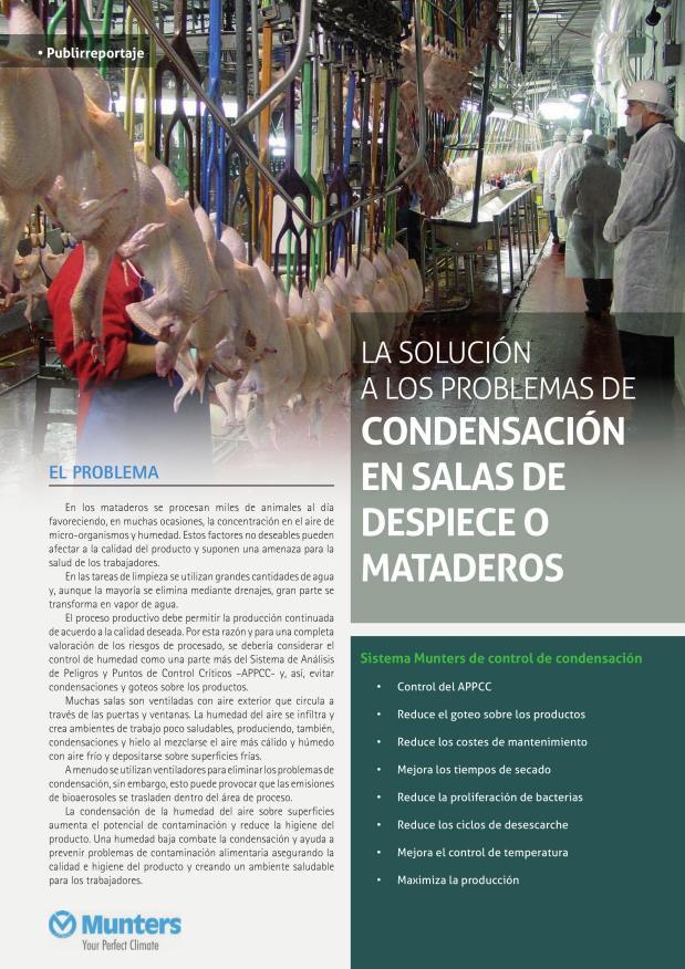 La solución a los problemas de condensación en salas de despiece o mataderos