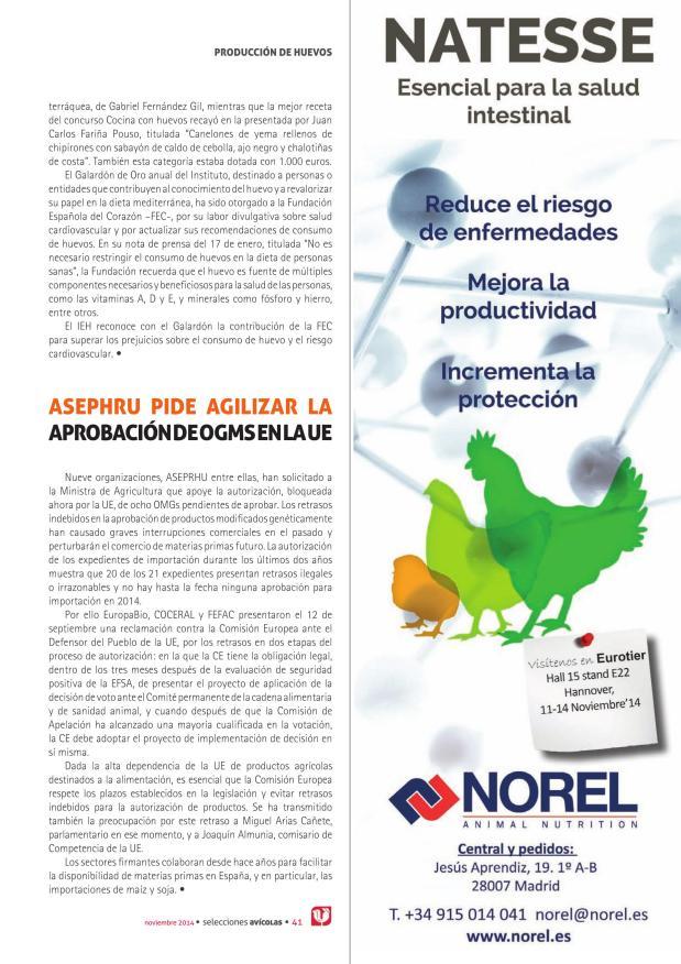 ASEPRHU pide agilizar la aprobación de OGMS en la UE