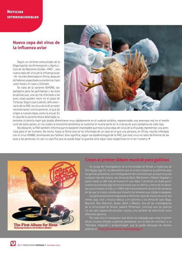 Nueva cepa del virus de la influenza aviar