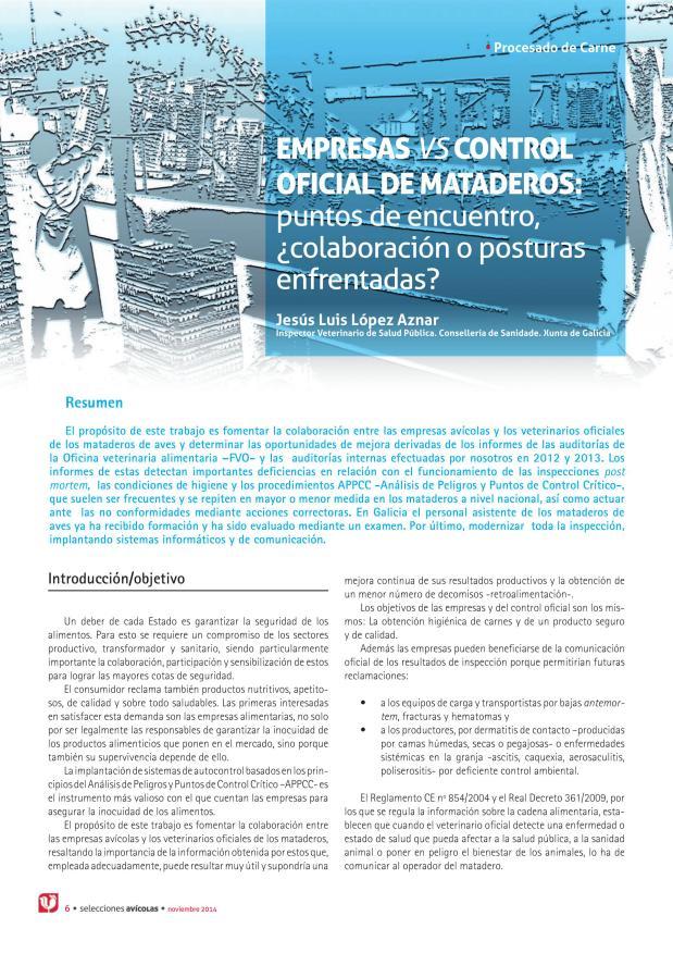 Empresas vs control oficial de mataderos: puntos de encuentro, ¿colaboración o posturas enfrentadas?