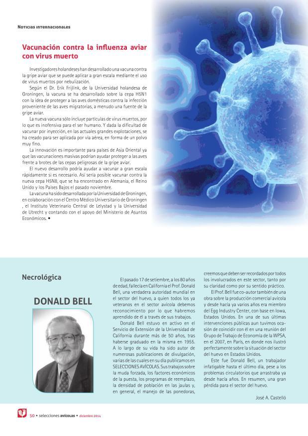 Vacunación contra la influenza aviar con virus muerto
