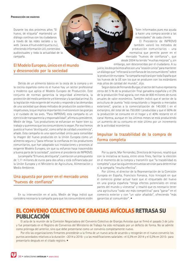 El Convenio Colectivo de Granjas Avícolas retrasa su publicación