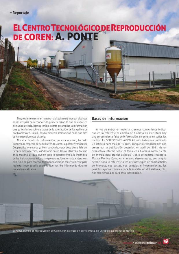 El Centro Tecnológico de Reproducción de Coren: A. Ponte