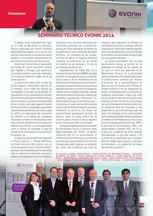 Seminario Técnico Evonik 2014