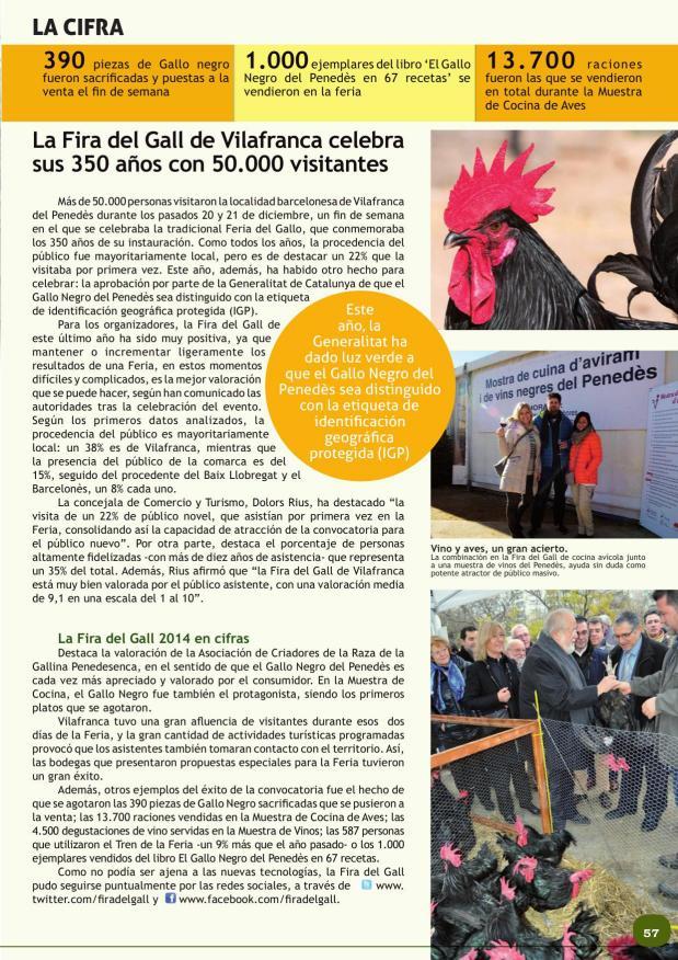 La Fira del Gall de Vilafranca celebra sus 350 años con 50.000 visitantes