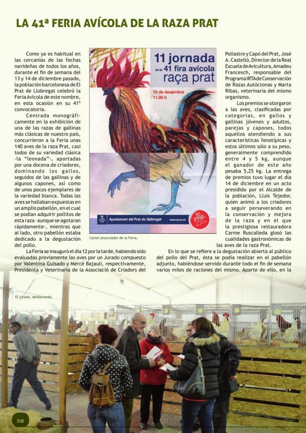 La 41ª Feria Avícola de la Raza Prat