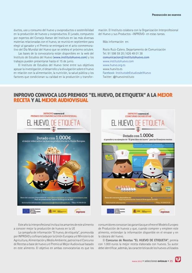 """INPROVO convoca los premios """"El huevo, de etiqueta"""" a la mejor receta y al mejor audiovisual"""