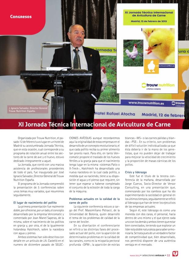 XI Jornada Técnica Internacional de Avicultura de Carne