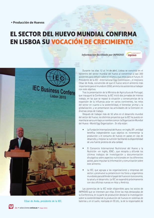 El sector del huevo mundial confirma en Lisboa su vocación de crecimiento
