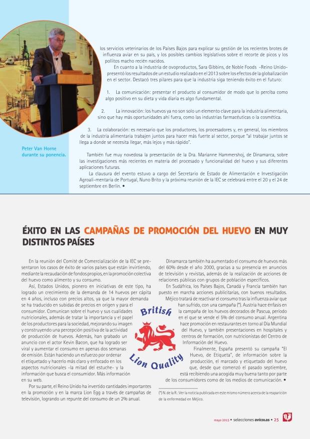 Éxito en las campañas de promoción del huevo en muy distintos países