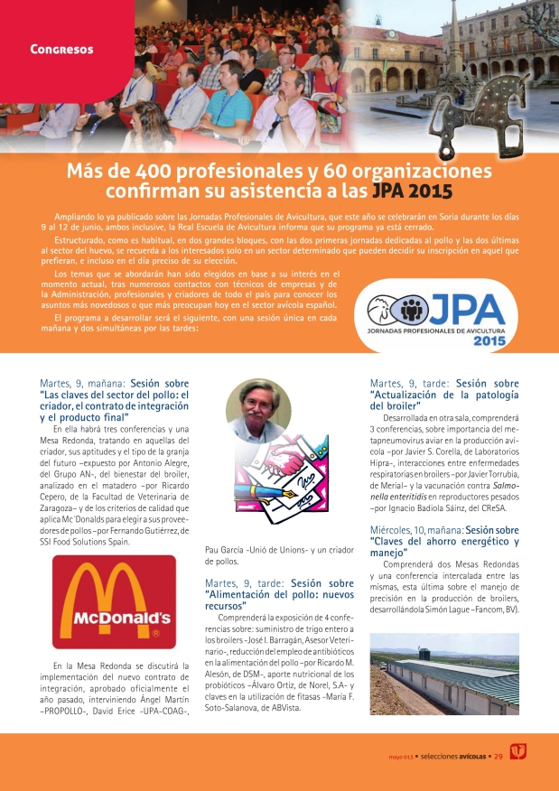 Más de 400 profesionales y 60 organizaciones confirman su asistencia a las JPA 2015